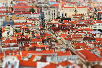 Lisboa roofs tilt shift