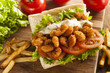 Homemade Shrimp Po Boy Sandwich - 62748632