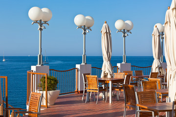 Outdoor Cafe with Sea View