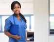 Black nurse at the hospital