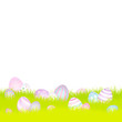 Easter Background Meadow Retro Easter Eggs Pastel