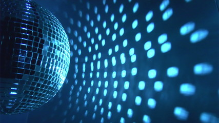Blue disco ball background