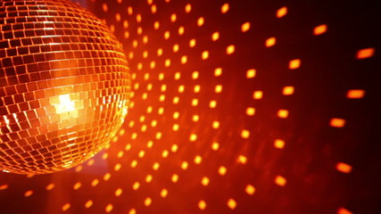 Orange disco ball background