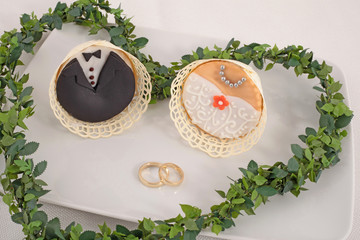 Brautpaar  Kuchen