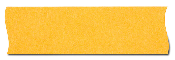 Orange rectangular sticky note isolated, with shadow