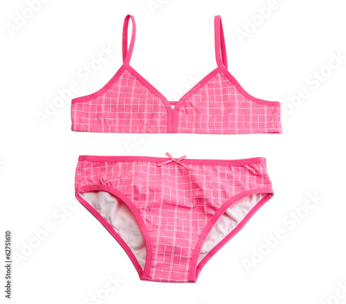 Pink cotton leotard for girls set.