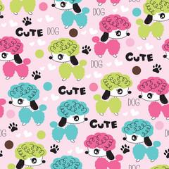 cute dog pattern vector illustration