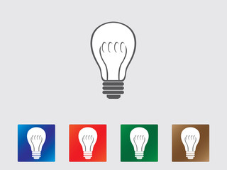 Bulb icons illustrated on gray background