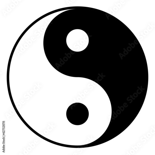 Black and white yin-yan symbol