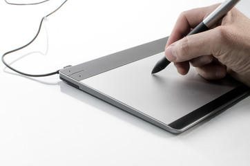 Hand writing on a touch pad