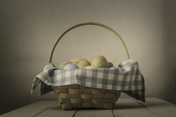 Easter Egg Basket - Vintage Style