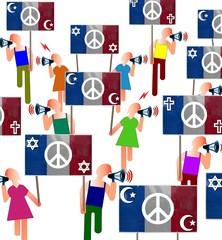 """Manif """"Paix religieuse en France"""""""
