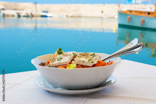 Greek salad. Crete