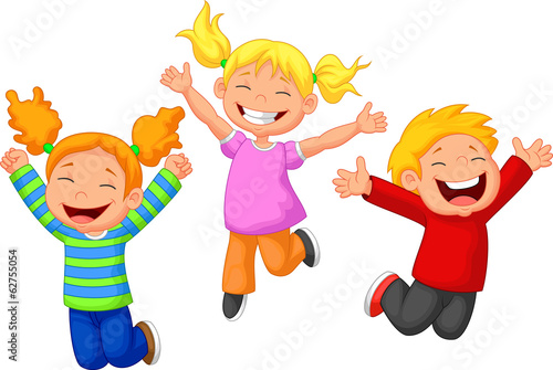 Happy kid cartoon