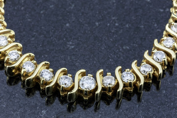 Diamond Necklace on Black Marble