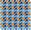 irregular squares pattern