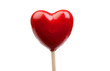 Red candy with shaped heart