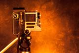 Retro vintage camera on tripod - 62756493