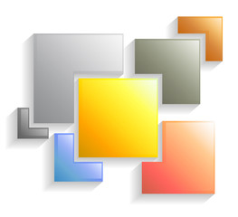 Rectangle template abstract