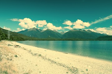New Zealand - Manapouri. Cross processed color tone.