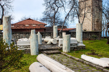 Ancient ruins at premises of Hagia Sophia church