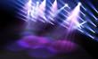 Spotlights on stage