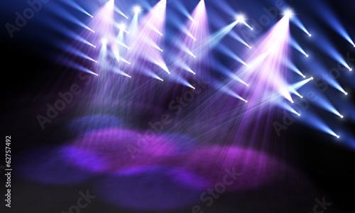 Staande foto Uitvoering Spotlights on stage