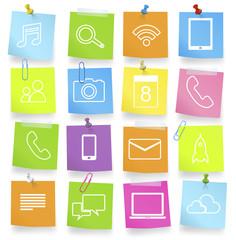 Social Media and Communication Themed Symbols Vector