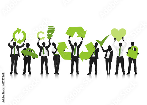 Business Team with Recycle Concept Vector
