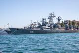 Russian warship in the Bay, Sevastopol, Crimea