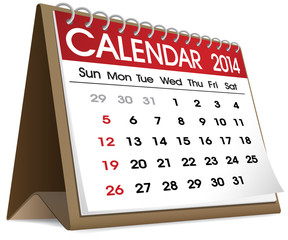 Vector of Calender 2014