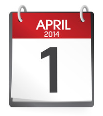 Calendar of 1st of April Vector