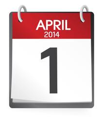 Calendar of 1st of April Vector