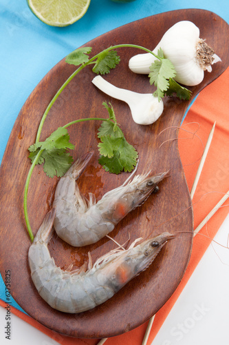 Raw Whole Shrimps