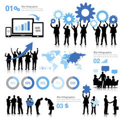 Vector of Global Business on White Background