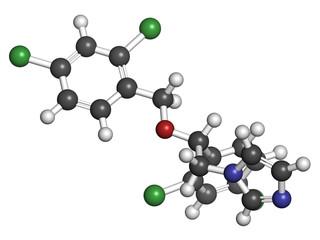Miconazole antifungal drug molecule.
