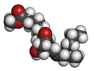 Misoprostol abortion inducing drug molecule.