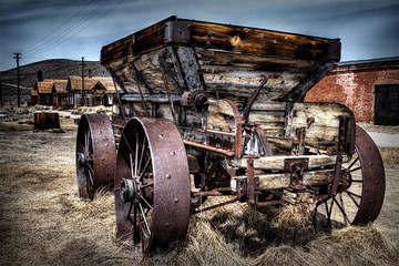 Ghost town wagon, Bodie California