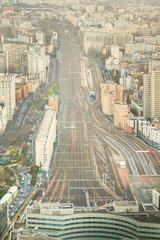 Aerial view of the railways near Monparnasse in Paris