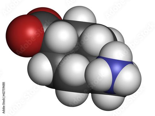 Tranexamic acid antifibrinolytic drug molecule.