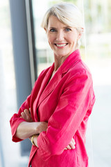 senior female corporate worker