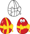 Egg Cartoon Characters 1  Collection Set