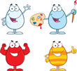 Egg Cartoon Characters 4  Collection Set
