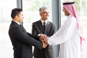 multicultural business partners teamwork