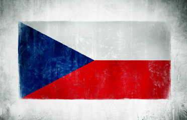 Painting Of The National Flag Of Czech Republic