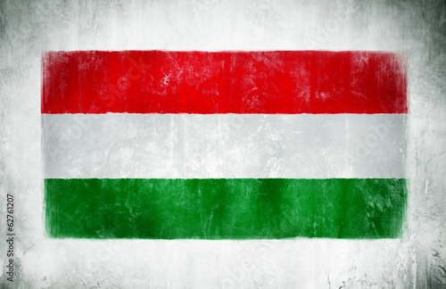Painting Of The National Flag Of Hungary