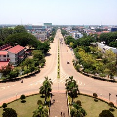 Cityscape of Vientiane, Laos.