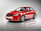 3D Red Family Car - 62761837