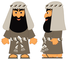 The Jewish man  - Abraham from the biblical stories.