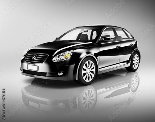 3d-czarny-samochod-rodzinny
